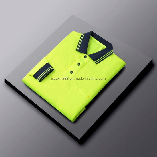 Cool Dry Polyester Mesh Polo Shirt Hi Vis Workwear Protective Clothes safety Wear