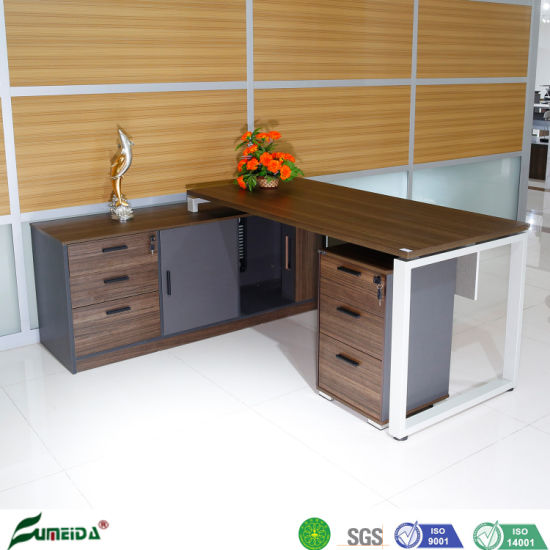 Modern Particle Board CEO Executive Desk Wooden Melamine Office Desk