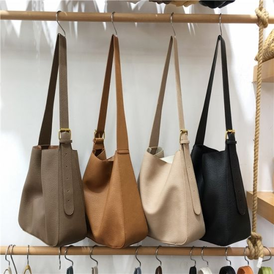 China Wholesale Stylish Comfortable Vegan Faux Leather Women Casual Handbags Female Tote Sling Shoulder Bags