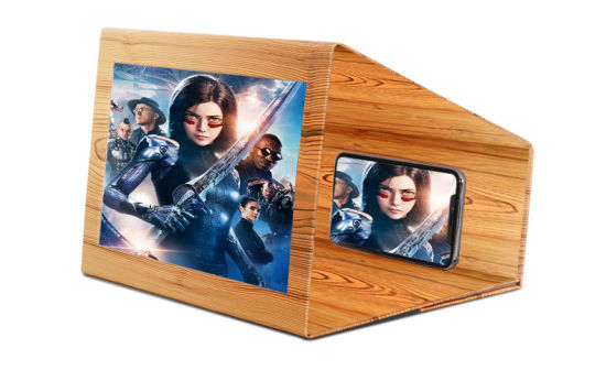 Amazon New Portable 12 Inch Wood Grain Folding Magnifier 3D Mobile Phone Screen Amplifier