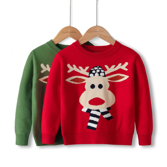 Cute Baby Knitwear Clothing Deer Christmas Boy Pullover Sweaters