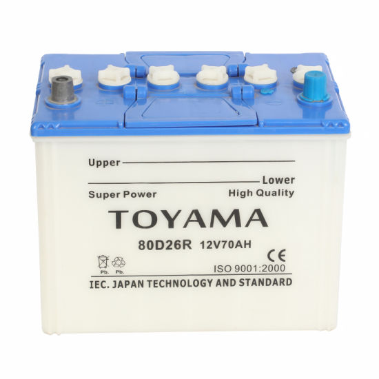 Low Maintenance Free Dry Cell 12V 70ah Automobile Battery 80d26r Car Battery