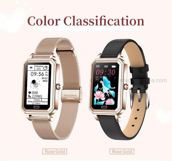 Women Healthcare Smart Watch Heart Rate Monitoring Bracelet with IP68 Waterproof HT2
