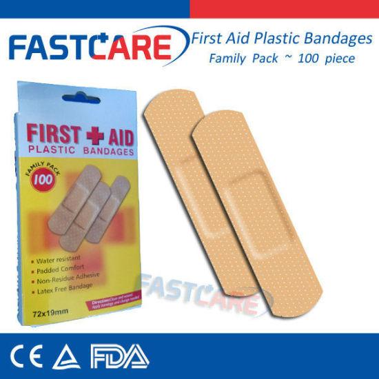 Medical Waterproof Plastic Bandage with Ce FDA