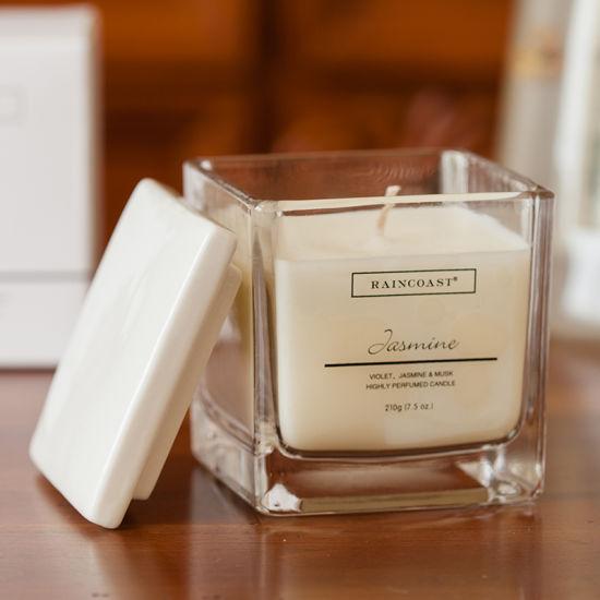 Raincoast 210g Scented Candle Simple Elegant Bottle Fragrance White Dcandle for Home Hotel