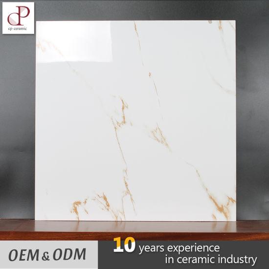 Ceramic Tile Low Price Marble White Glossy Glazed Kerala Vitrified Floor Tiles Design