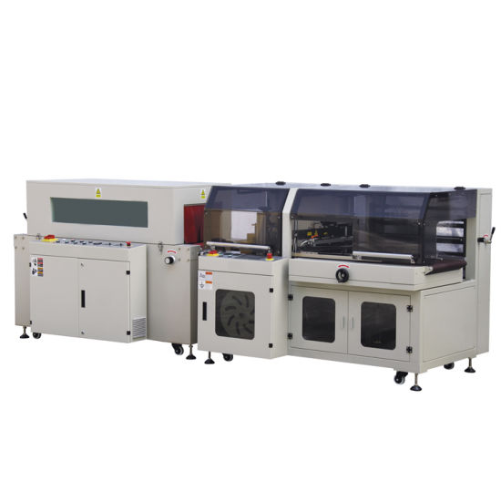 Semi Automatic L Bar Heat Film Shrink Tunnel Wrapper and Heat Shrink Wrapping Packing Machine