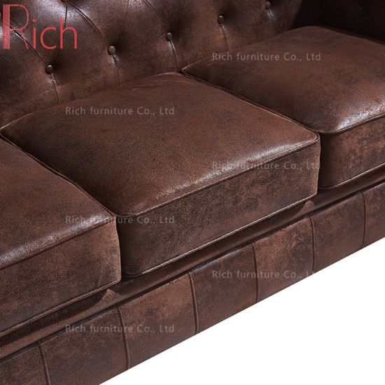 Terrific China Living Room Brown Chesterfield Sofa Couch With Leather Machost Co Dining Chair Design Ideas Machostcouk