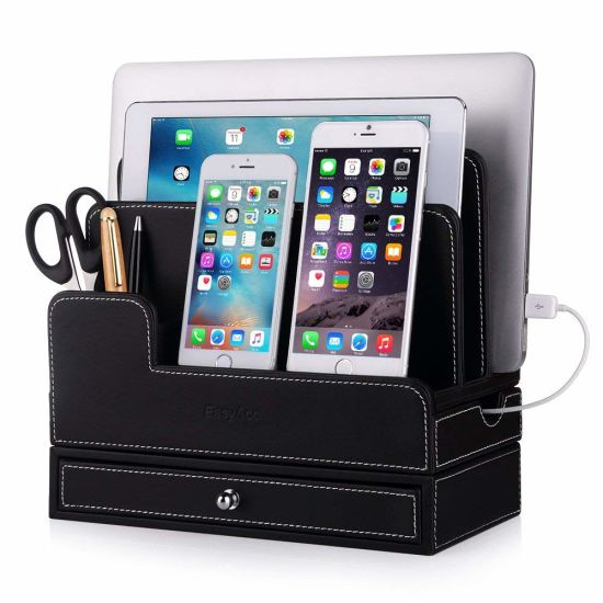PU Leather Desktop Storage Box, Office Desktop Storage Box