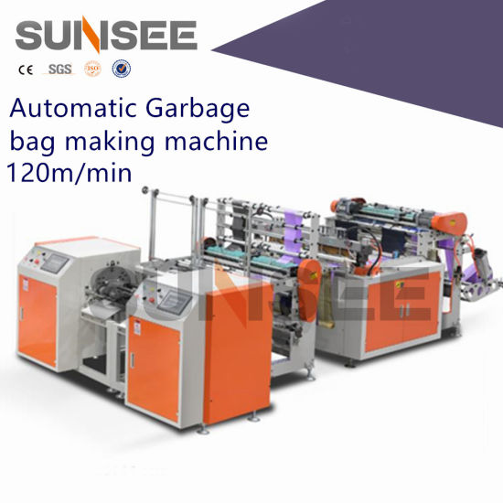 Automatic Double Line Garbage Bag Making Machine