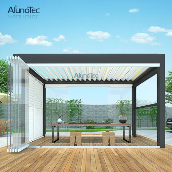 Waterproof Pergola Roof Garden Louvered