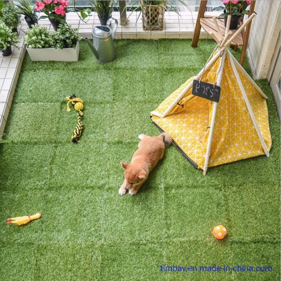 Decking Floor with DIY Artificial Grass/Mosaic Stone/WPC Flooring