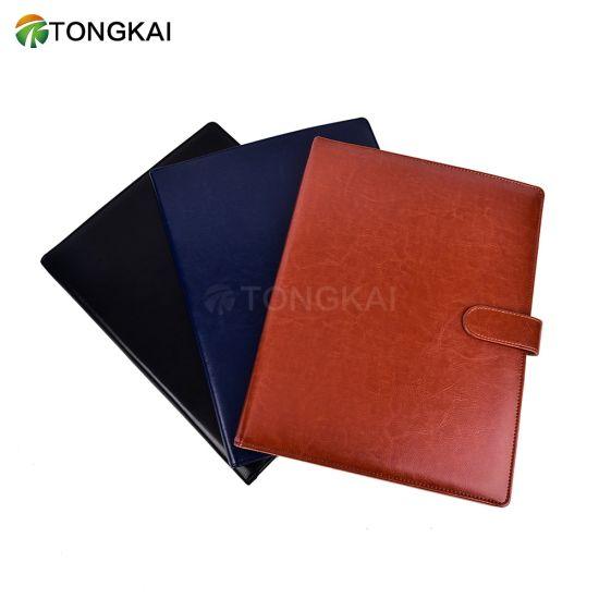 Tongkai PU Leather A4 Folder with Metal Clip