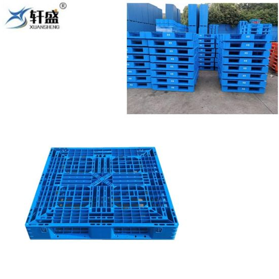 Chinese Factory Supplier 4 Way Entry Single Faced Plastic Pallet for Cement Bags Stacking