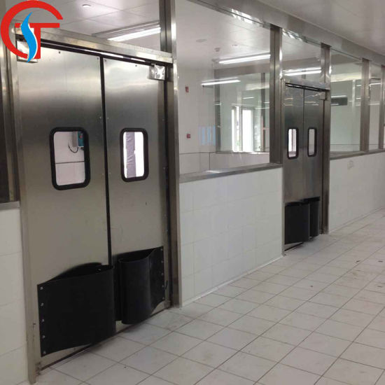 Food Industry Swing Stainless Steel Traffic Kitchen Doors for Restaurant