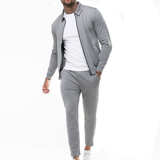 2019 New Style Custom Mens Blank Sports Slim Fit Polo Tracksuit