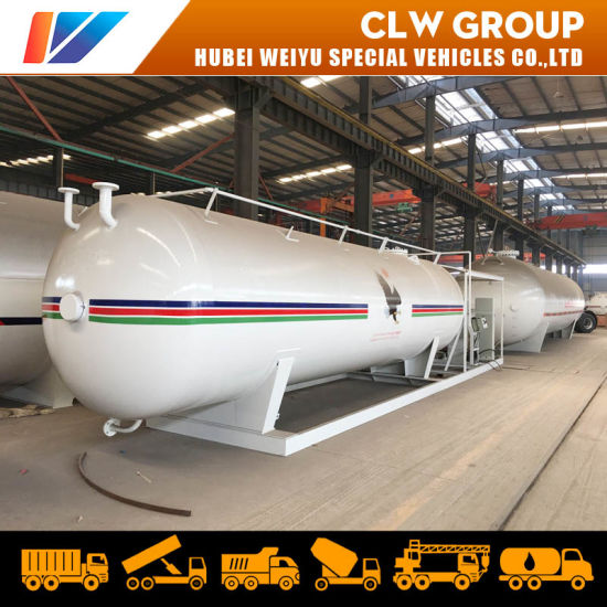 20tons 40, 000L LPG Skid Station Tank 40m3 Propane Gas Storage Tank Station pictures & photos