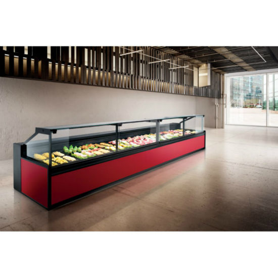 High Quality Top Open Meat Chiller Display Meat Display Freezer