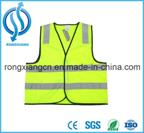 Reflective Safety Black Safety Hi-Vis Mesh LED Vests pictures & photos