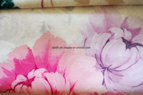 Wholesale Warp Knit 100 Polyester Fabric Velboa Printed Velvet pictures & photos