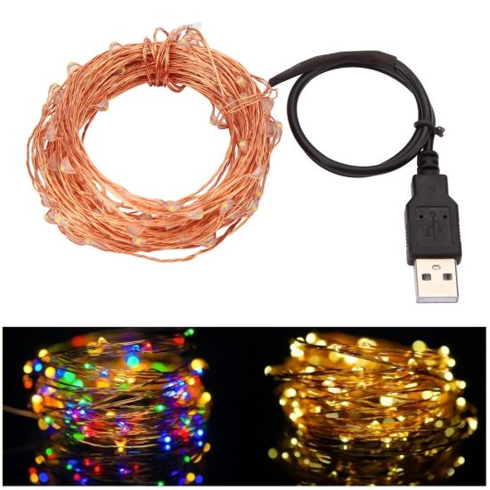 China 10m 100 Led Usb Outdoor Led Copper Wire Party Fairy String Lights China Lighting String Lights