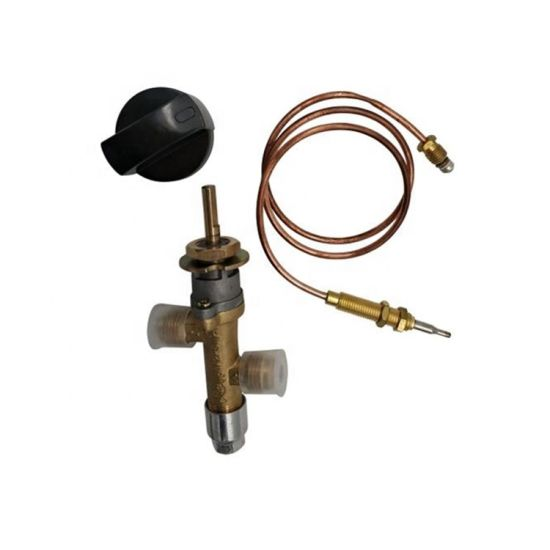 Propane Gas Main Control Brass Safety Valve Fireplaces Replacement Pilot Assembly Kit