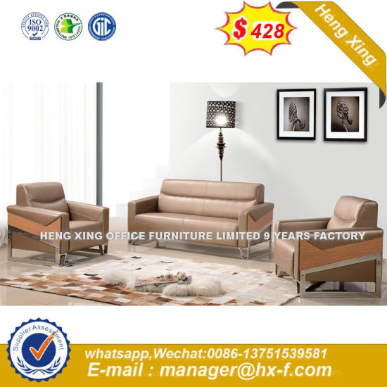Modern Office Furniture Sectional Genuine Leather Office Sofa (HX-S368) pictures & photos