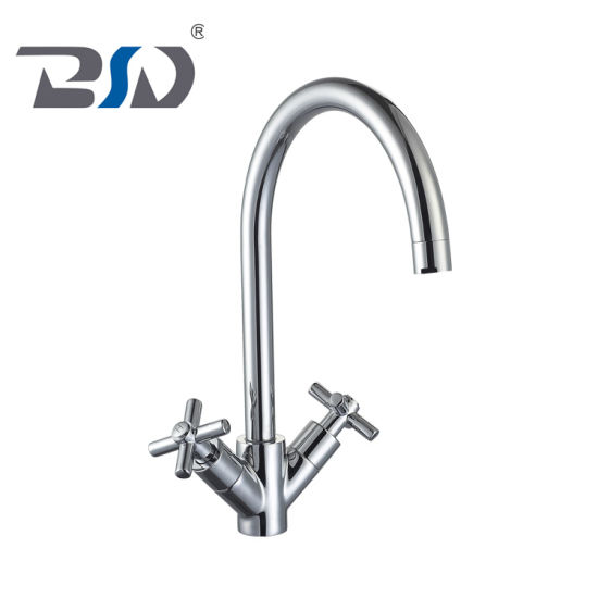Cheaper Tapware Ms Ceramic Cartridge Deck Mounted Basin Tap Mixer, Mono Extended Chrome Coating Retangular Spout Basin Tap Mixer Faucet pictures & photos