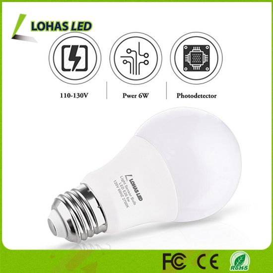 40 Watt Equivalent 6W A19 E26 LED Smart Sensor Light Bulb pictures & photos