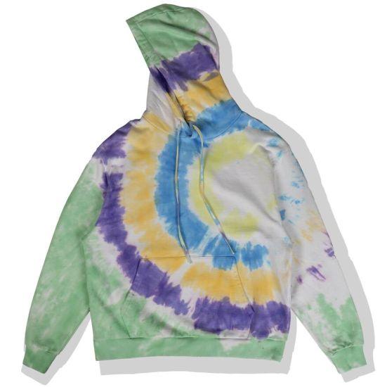 Fashion Pattern High Quality Tie Dye Effect Men's Pullover Hoodies