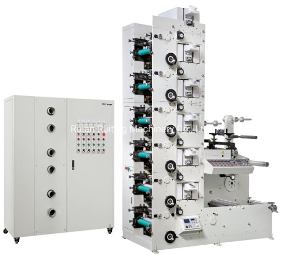 6 Color UV Flexographic Printing Machine with Slitter for Aluminum Foil