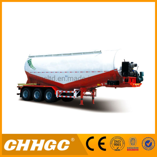 Carbon Steel Bulk Cement Transport Tanker Truck Semi Trailers pictures & photos