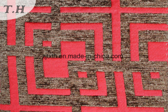 Red China Supplier Chenille Sofa Fabric (fth31929)