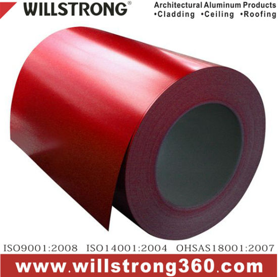 PVDF/Feve/Pet Color Coated Aluminum Coils for Ceiling/Roofing and ACP/Ahp Production