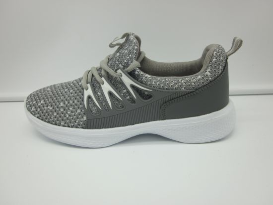 Colorful Fashion Light Weight Breathable Flyknit Sport Women's Shoes