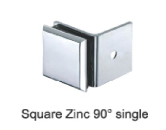 Bevel Zinc/Brass 90 Wall To Glass Shower Glass Bracket