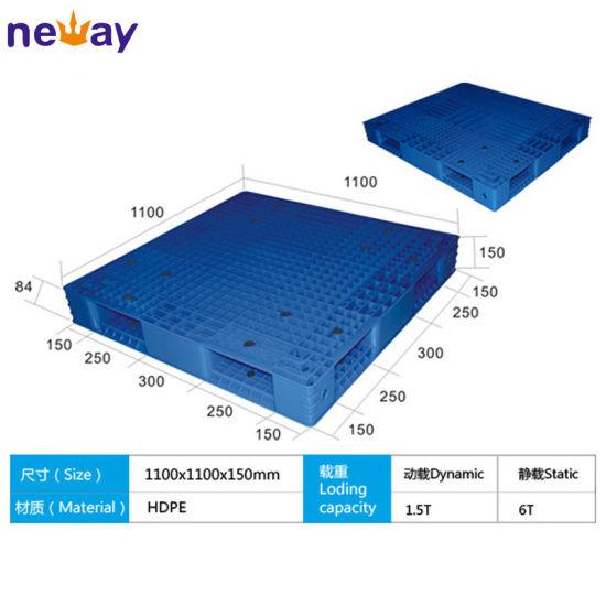 China Manufacturer Of Big Size Plastic Pallet For Factory Supermarket 11001100150 Mm