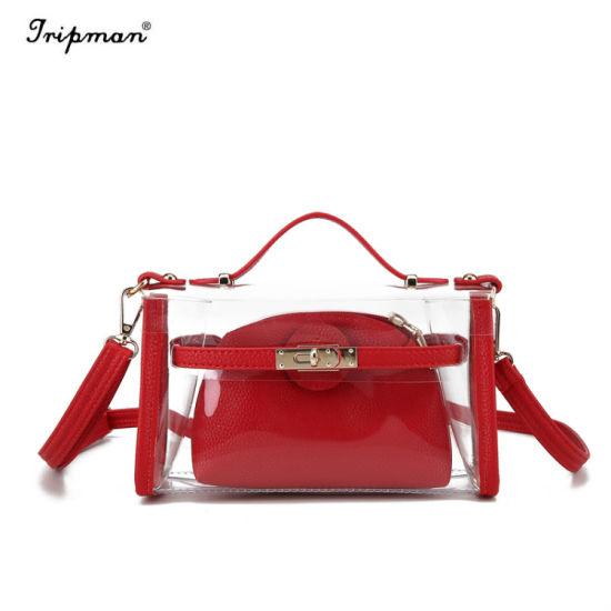 S Transparent Jelly Package Color Fashion Shoulder School Bag