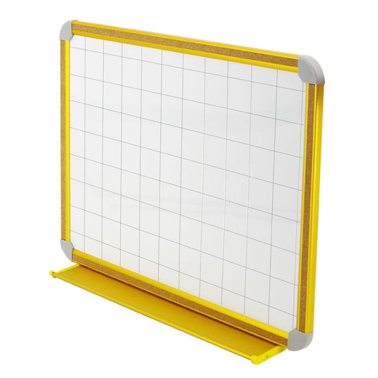 China Combination Magnetic Dry Erase Whiteboard with Grid in Golden ...