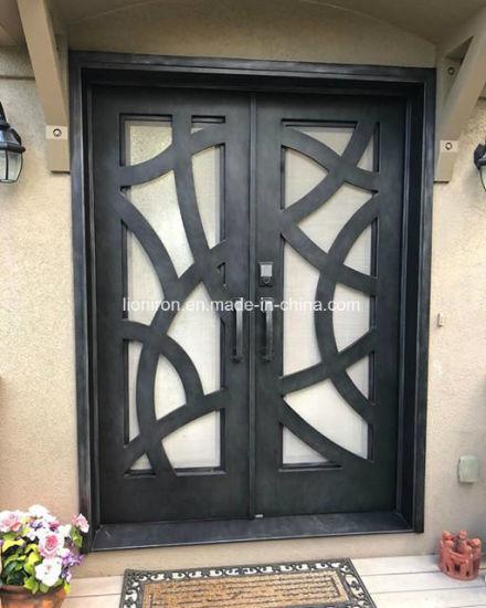 Security Custom Made Wrought Iron Door