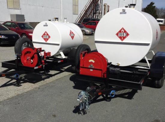 China As Standard Mobile Diesel Fuel Tank Trailers China Carbon