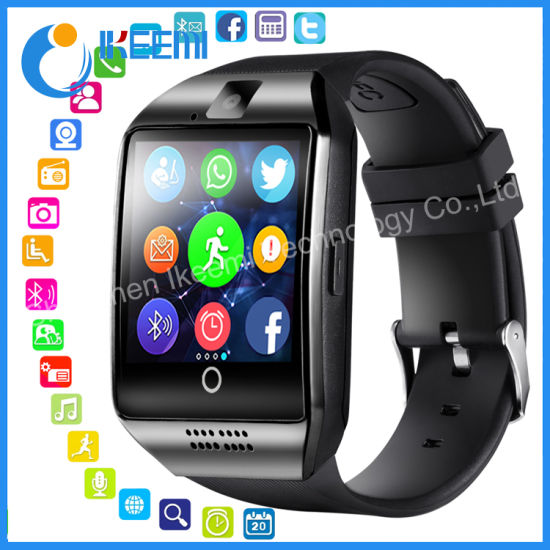 9ca07f873 Hot Selling Hand Watch Mobile Phone Price Bluetooth Q18 Men Android Smart  Watch pictures   photos