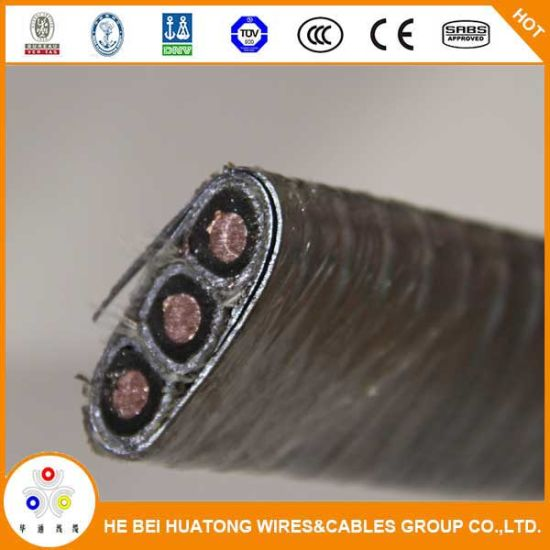 5kv Polyimide F46 And Epr Insulated Lead Sheathed Galvanized Steel Flat Copper Esp Cable