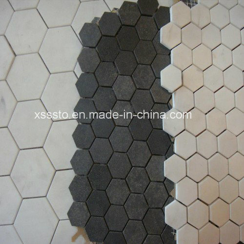Irregular Shape Green Marble Mosaic Tiles & Pattern pictures & photos