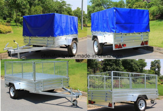 6X4 7X4 7X5 8X4 8X5 Hot Dipped Galv. Single Axle Box Trailer with Tilt pictures & photos