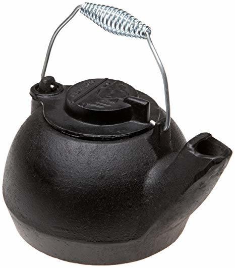 Traditional Seasoned Cast Iron Kettle