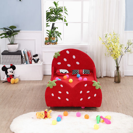 China Girl′s Bedroom Furniture Strawberry Model Kids Bed Children Inspiration Ids Furniture Model