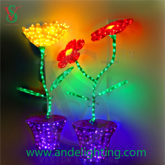 China Christmas Decoration Sunflower Lights Garden Lights For Indoor Outdoor China Led Flower Light Led Sunflower Light
