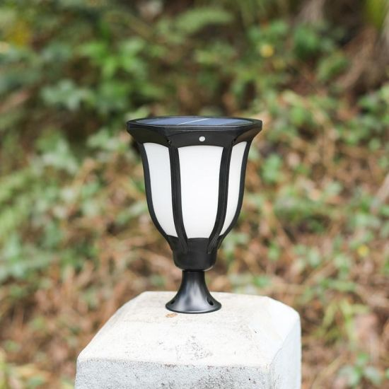 2 X SOLAR GARDEN POST GARDEN LIGHTS LAMP POST 2 WAY LANTERN STYLE LED LIGHTING