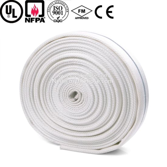 Double Jacket Canvas PU Fire Hydrant Hose Material pictures & photos